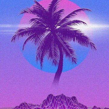 Retro Palm Tree by Indigorunner