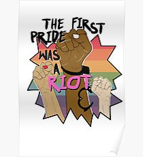 The First Pride was a Riot! Poster