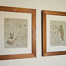 Happy Birthday Rabbit and Bear (2009)  framed. by naokosstoop