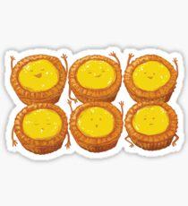 """Hong Kong Egg Tarts - """"蛋撻"""" Sticker"""