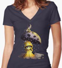 Pilz unter dem Regenschirm Shirt mit V-Ausschnitt