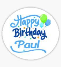 Happy Birthday Paul Sticker