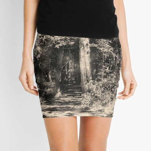 Woodcut Mini Skirt