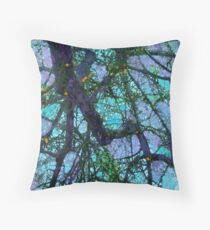Complex, Purple-Hued Branches Cascading Downward #1 Throw Pillow