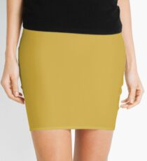 Ceylon Yellow | Pantone Fashion Color | Autumn : Winter 2018 | London | Solid Color Mini Skirt