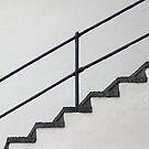 Black Steps White Wall by Yampimon