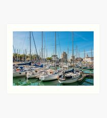 Yachts in the old port of La Rochelle  Art Print