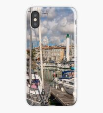 View of yachts in the old port, La Rochelle France iPhone Case