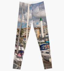 View of yachts in the old port, La Rochelle France Leggings