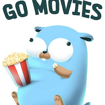 Gopher Golang Go Movies by clgtart