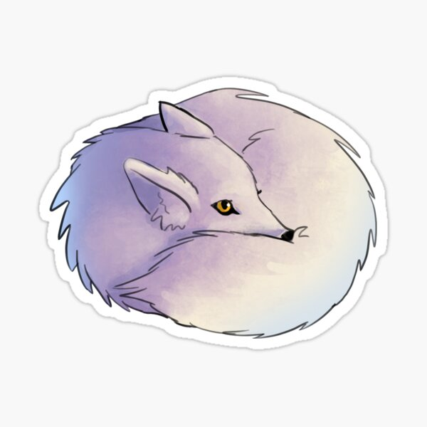 Arctic Fox Ball Sticker