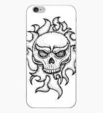 Human Skull with Fire iPhone Case