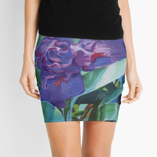 Purple Iris Mini Skirt