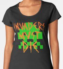 INVADERS MUST DIE I Women's Premium T-Shirt