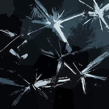 Expressive Painted Stars by SpieklyArt