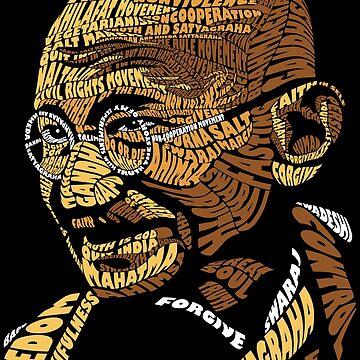 Gandhi typography by sakshamputtu