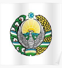 Coat of arms of Uzbekistan Poster