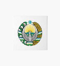 Coat of arms of Uzbekistan Art Board