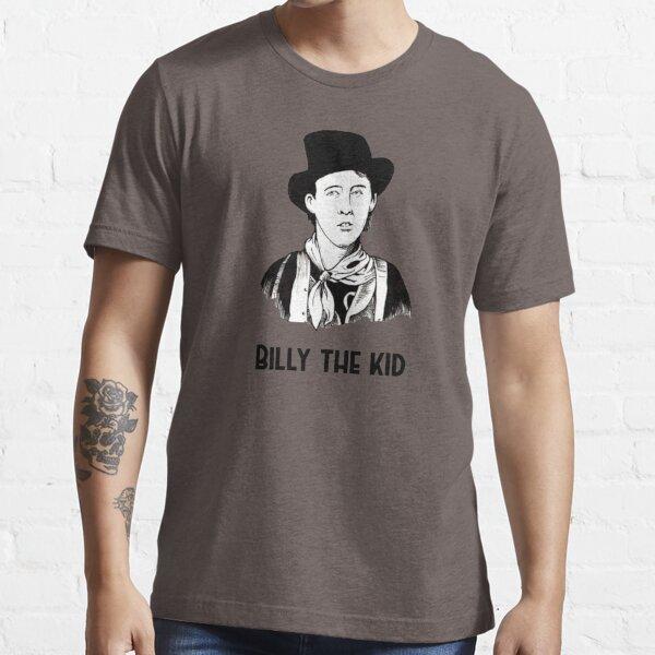 Wild West Legend Billy The Kid themed Dark Chocolate t-shirt