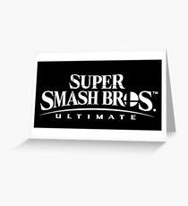 Super Smash Bros. Ultimate Logo (White) Greeting Card