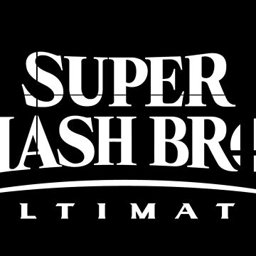 Super Smash Bros. Ultimate Logo (White) by CraigUK37
