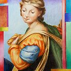 """sketch of Sta Barbara.  in the painting """"The Sistine Madonna"""" after Raphael. by terezadelpilar ~ art & architecture"""
