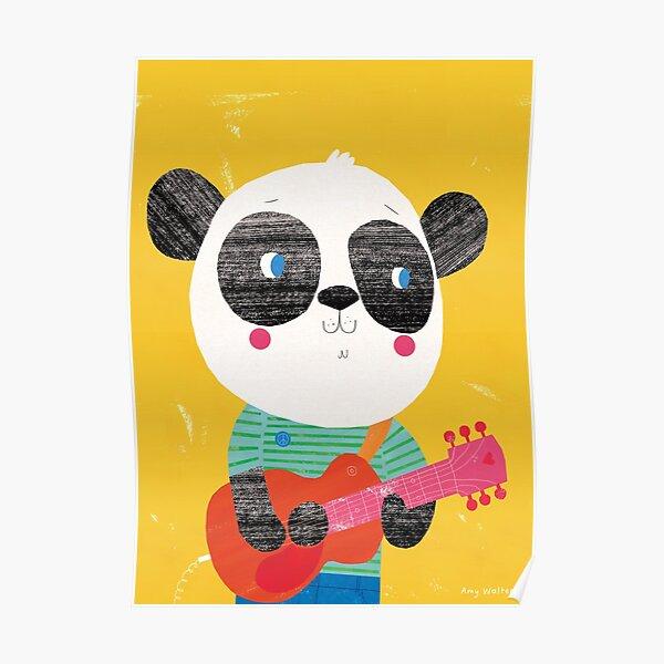 Animal Band - Panda Guitarist Poster