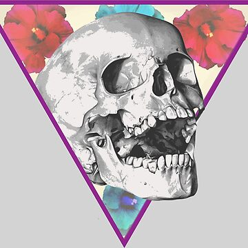 floral skull by oddishes