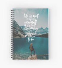 Cuaderno de espiral La vida no se trata de encontrarte a ti mismo