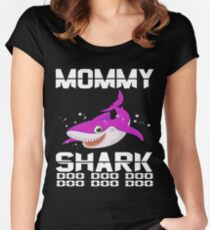 Funny Mommy Shark Doo  Doo  Doo T-Shirts- Mommy Gift Idea Women's Fitted Scoop T-Shirt