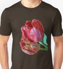 Two Red Tulips Vector Isolated T-Shirt