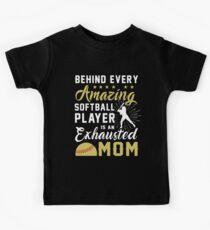 behind every amazing softball Kids Tee