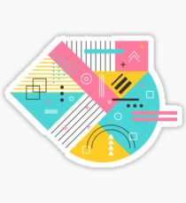 Abstract memphis style design Sticker