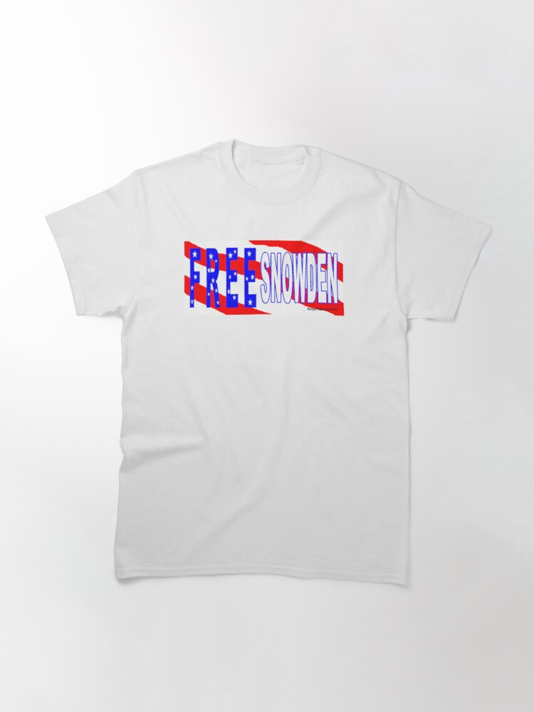 Alternate view of Free Snowden Classic T-Shirt