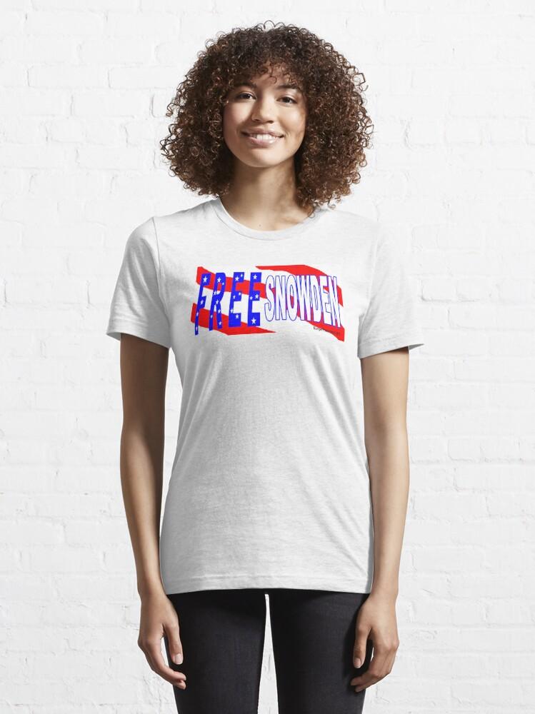 Alternate view of Free Snowden Essential T-Shirt