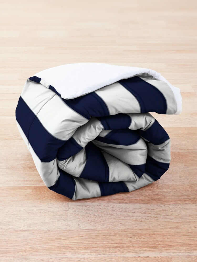 Alternate view of Anchor and Navy Blue Stripes Comforter