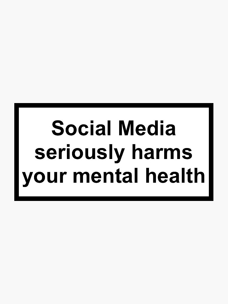Social media seriously harms your mental health by uncommongoods