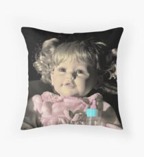 My Little Baby Doll Throw Pillow