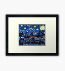 Starry Night in Manchester - www.art-customized.com Framed Print