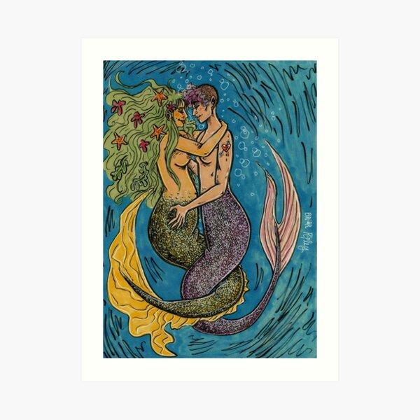 pride month mermaids Art Print