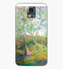Girl in the Woods in the style of Renoir Case/Skin for Samsung Galaxy