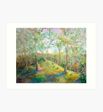 Girl in the Woods in the style of Renoir Art Print