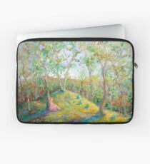 Girl in the Woods in the style of Renoir Laptop Sleeve