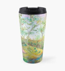 Girl in the Woods in the style of Renoir Travel Mug