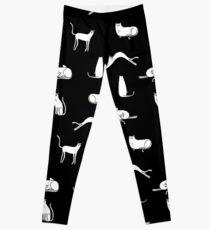 Cat Poses - Monochrome Leggings