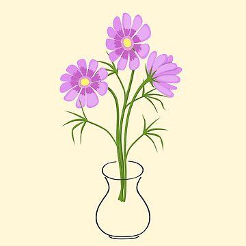 three daisies in the vase by AlinNova