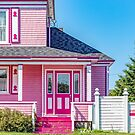 Candy pink house by Manon Boily