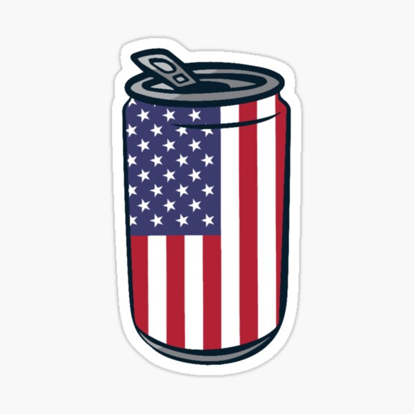 4th of July Beer Can Sticker