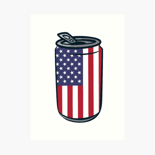 4th of July Beer Can Art Print