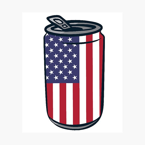 4th of July Beer Can Photographic Print